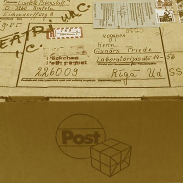 Līzelotes Bokslafas sūtījumu kaste Gunāram Priedem