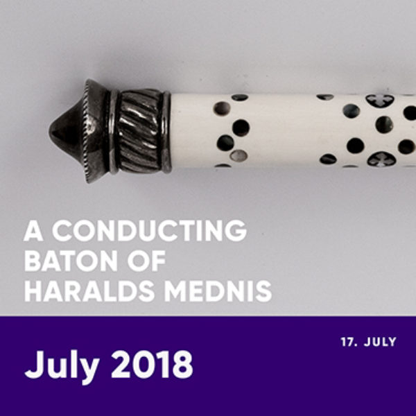 A conducting baton of Haralds Mednis