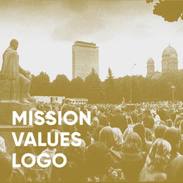 Mission, values, logo