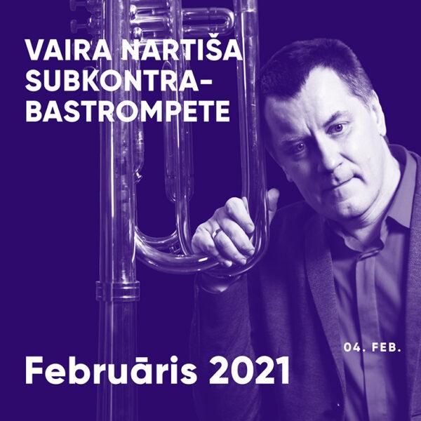 Vaira Nartiša subkontrabas-trompete